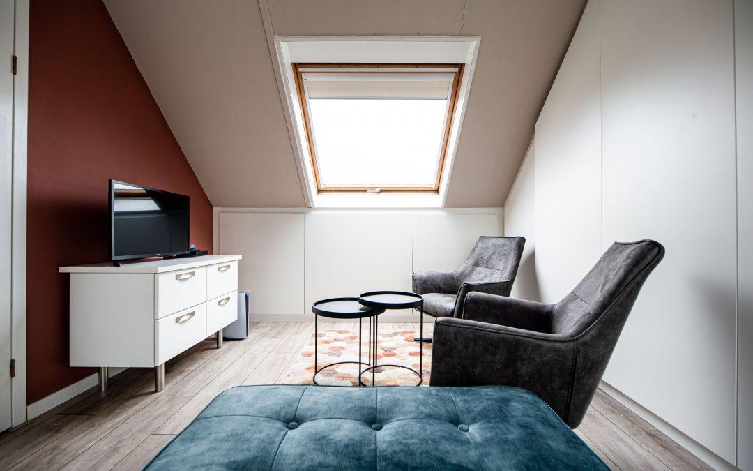 Thuiswerkplek op zolder